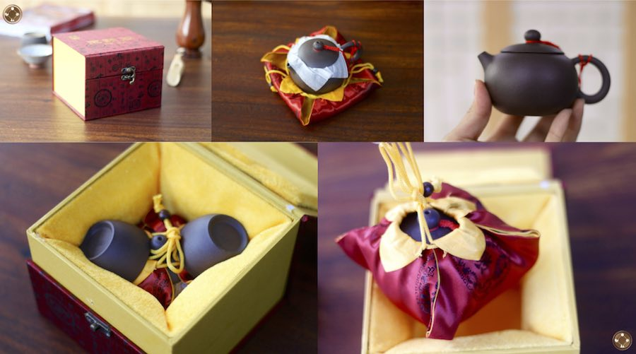 yixing teapot in gift packaging