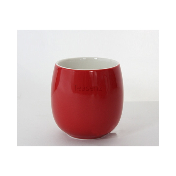 """Red Dragonfly"" Bone China Theepot met Slimme Anti-slip Deksel en 4 Thee Koppen"