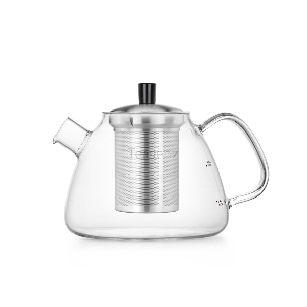 Large Clear Glass Teapot