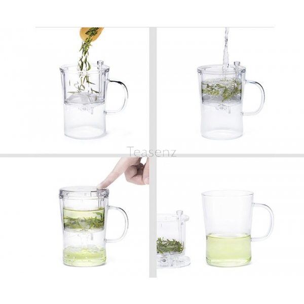 Thee infuser mok - klein (400 ml)